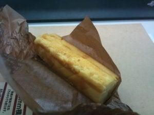 同僚からもらったチーズケーキ