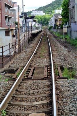 昭和町駅あたりの高徳線の線路